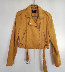 Žuta jakna biker