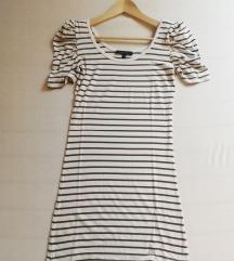 Ljetna 👗 haljina 👗 bijelo-tamnoplava