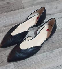 Nove Högl crne kožne špic balerinke
