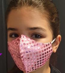 Handmade zaštitne maske za lice - šljokice