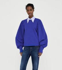 Zara sweater majica sa puf rukavima