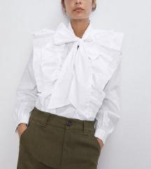 Zara košulja sa mašnom i volanima+poklon🎁