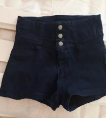 Vruće kratke hlače visoki struk 36/38