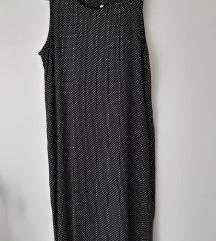 Nova midi crna haljina na bjele tockice 42-44