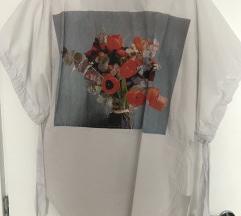 Bijela tunika s printom Zara