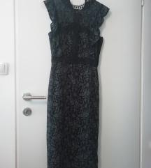 Čipkasta midi Zara haljina S