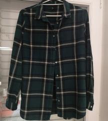H&M zelena karirana košulja 38