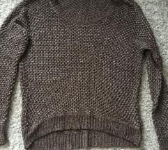 Smeđi Pleteni džemper vel L/XL