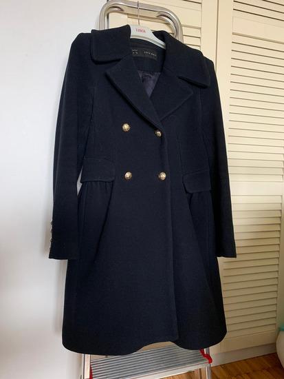 Zara tamnoplavi mornarski/military kaput