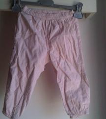 Svijetloroza ljetne H&M hlače za curice