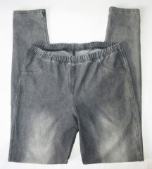 Sive jeggings hlače