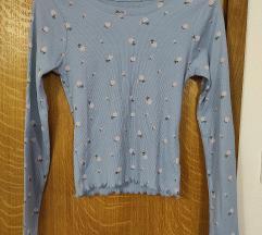 Baby blue crop top majica