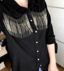 ZARA kaubojska košulja s resicama *nenošeno*