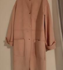 Zara kaput od imitacije brušene kože✨
