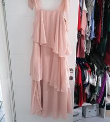 H&m haljina puder roza