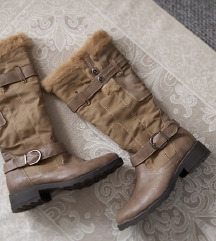 Tople zimske čizme podstavljene runom