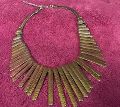 Srebrno zlatna ogrlica