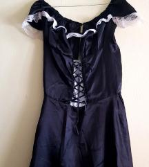 Ženska crno-bijela haljina/uniforma sobarice