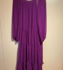 Ljubičasta midi haljina