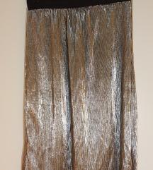 Metalik midi suknja