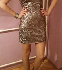 Haljina srebrna sa šljokicama