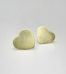 Mjedene naušnice Hearts