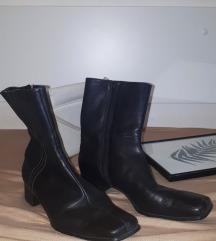 ECCO kožne crne čizme