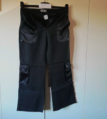 Crne  hlače - kombinacija  - MISS EDITH br. S