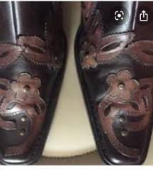 MORE&MORE kožne kaubojske gležnjače čizme