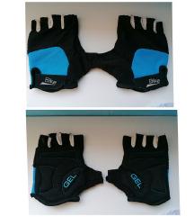 Bike rukavice crne za biciklu gel bicikl bajkerske