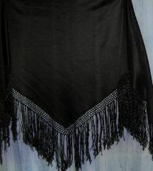 marama crna trokut sa svilenim resama