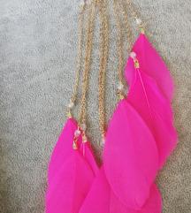 Earcuff perje rozi