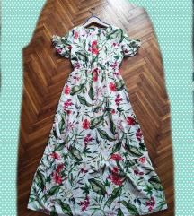 Cvjetna maxi haljina, M veličina(38-40) uklj. Tsk