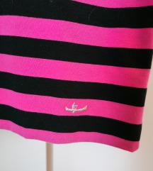Sisley crna roza dolcevita na pruge prugasta