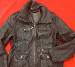 Kožna jakna tamnozelena 40 PRAVA KOŽA