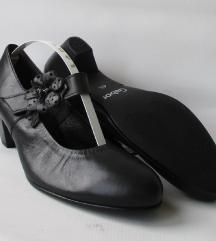 GABOR crne kožne cipelice 4.5(38) ***NOVO