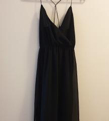 H&M midi crna haljina