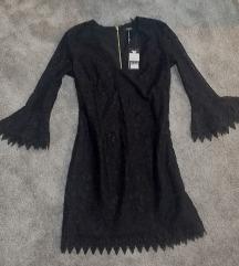 NOVA GUESS mala crna čipkasta haljina
