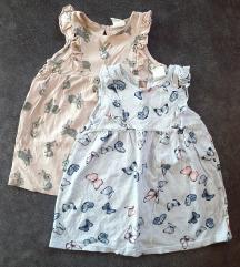 H&M komplet haljinica za bebe djevojčice 68