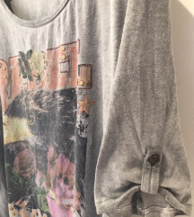 Siva majica sa printom