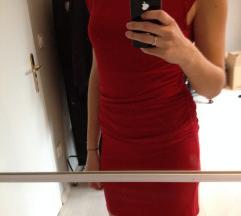 RASPRODAJA - Crvena haljina otvorenih ledja