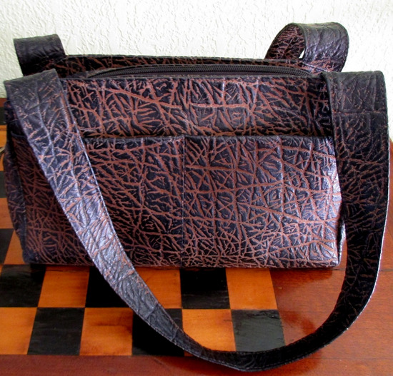 Smeđe-bež  torbica