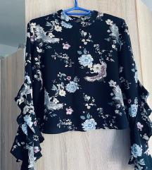 Plava crop top majica