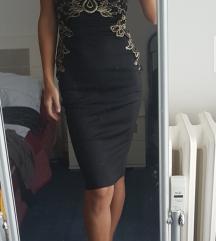 crno zlatna svečana haljina