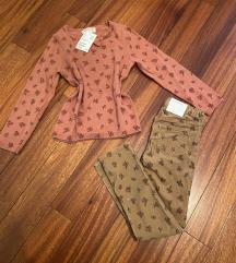 H&M hlače i pulover NOVO