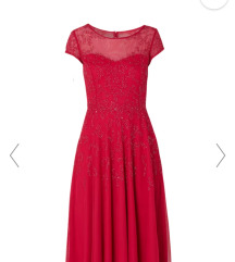 Crvena koktel haljima