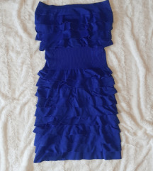 Pariško plava haljinica sa volanima