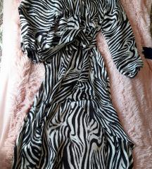 Mango zebra haljina