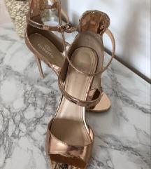 Rosegold sandale