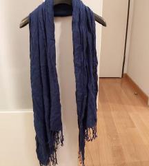 H&M basic sal pasmina kraljevsko plavo